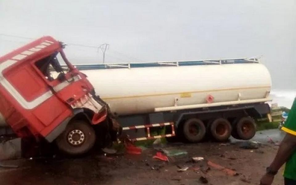 Togo – accident sur la Nationale n˚1 : deux poids lourds sont entrés en collision