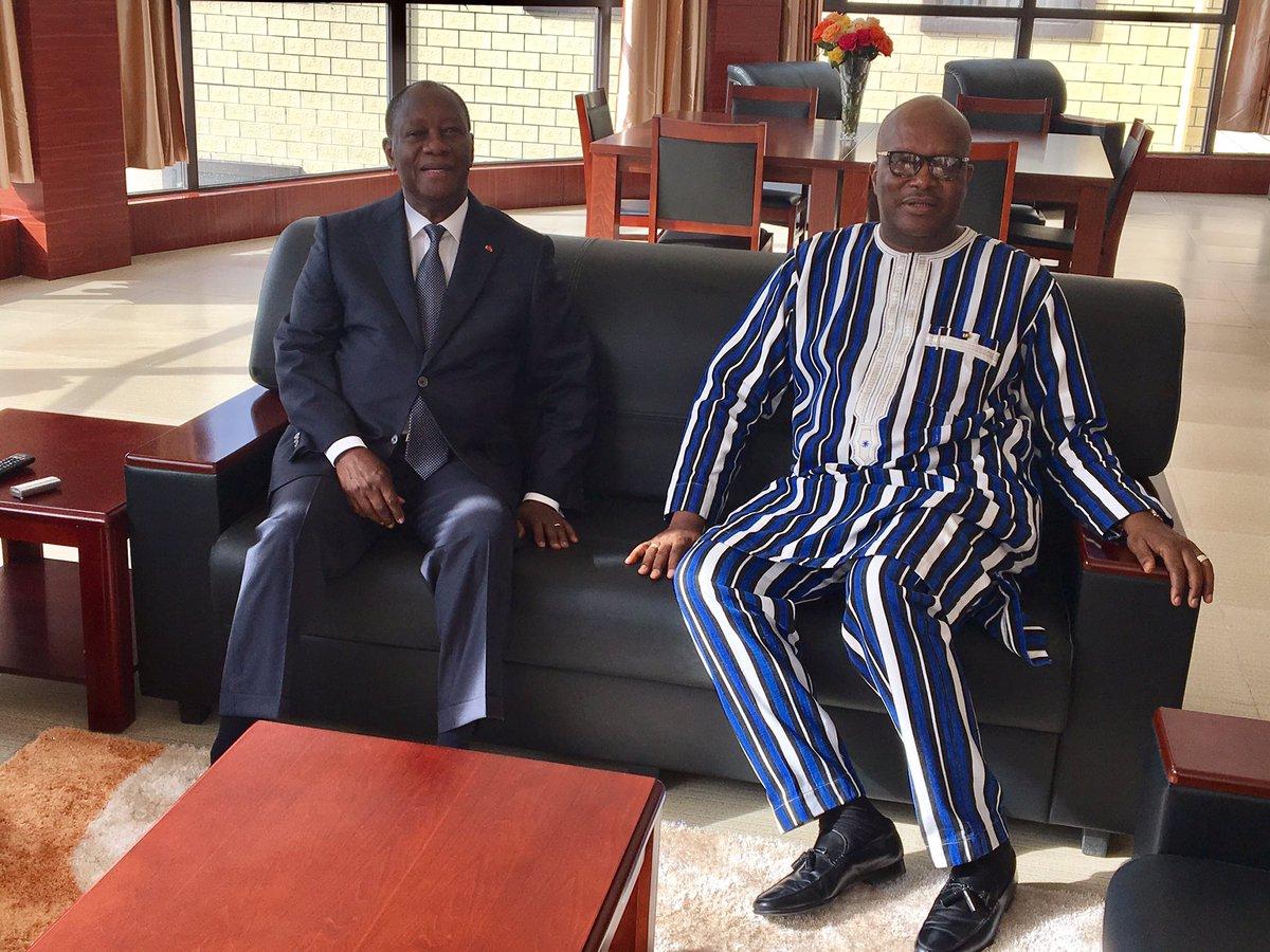 Alassane Ouattara pleure le décès du père de Rock Marc Christian Kaboré